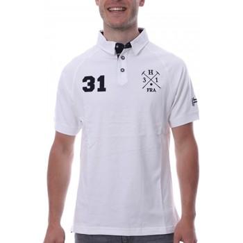 Abbigliamento Uomo Polo maniche corte Hungaria H-16TLMODORE Bianco