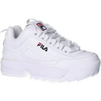 Scarpe Unisex bambino Sneakers basse Fila 1010567 1FG DISRUPTOR KD Blanco