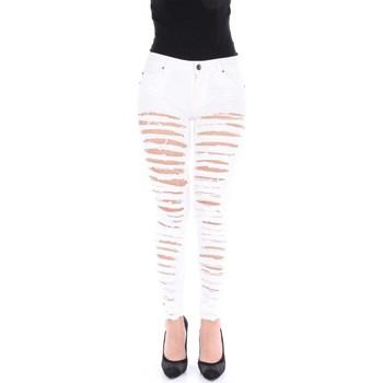 Abbigliamento Donna Jeans boyfriend Imperfect IW14S11PU Skinny Donna White White