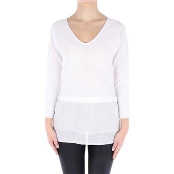 Abbigliamento Donna Maglioni Fabiana Filippi E27116-Z271 Scollo A V Donna Bianco Bianco