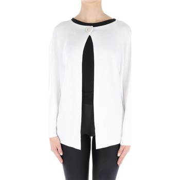Abbigliamento Donna Gilet / Cardigan Fabiana Filippi E22717-N268 Cardigan Donna Bianco Bianco