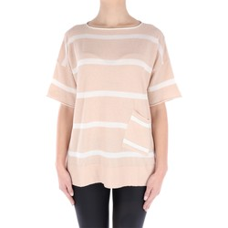 Abbigliamento Donna Top / Blusa Fabiana Filippi E27418-X045 Manica Corta Donna Beige & bianco Beige & bianco