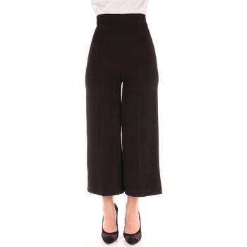 Abbigliamento Donna Pantaloni morbidi / Pantaloni alla zuava Dramée D106B Classici Donna Nero Nero