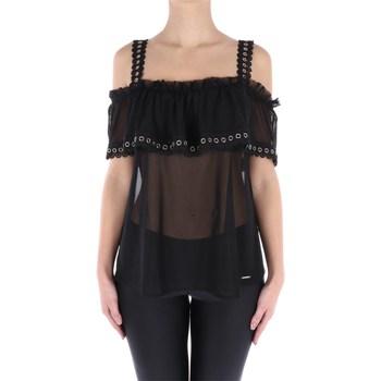 Abbigliamento Donna Top / Blusa Imperfect IW19S58TU Spalle Scoperte Donna Black Black