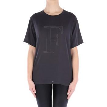 Abbigliamento Donna T-shirt maniche corte Fabiana Filippi TP73619-ST88 Manica Corta Donna Grigio scuro Grigio scuro