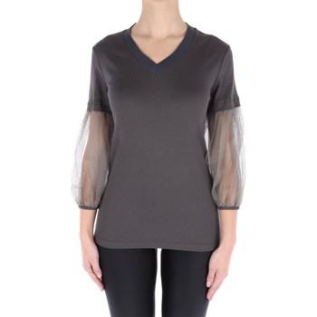Abbigliamento Donna Maglioni Fabiana Filippi JE48219-H500 Scollo A V Donna Grigio scuro Grigio scuro