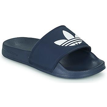 Scarpe Unisex bambino Sneakers basse adidas Originals ADILETTE LITE J Marine / Bianco