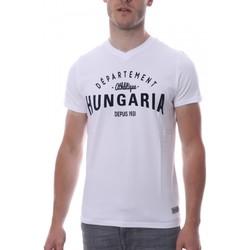 Abbigliamento Uomo T-shirt maniche corte Hungaria H-16TLMOBOLV Bianco