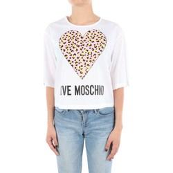 Abbigliamento Donna T-shirt maniche corte Love Moschino WCD57-01-S3296 Manica Corta Donna Optical white Optical white