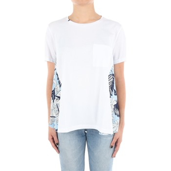 Abbigliamento Donna T-shirt maniche corte Sun68 T30205 Manica Corta Donna White White