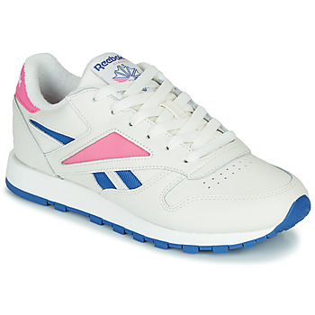 Scarpe Sneakers basse Reebok Classic CL LEATHER MARK Bianco / Rosa