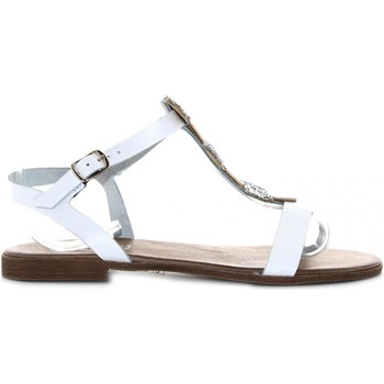 Scarpe Donna Sandali Diciottopiu' scarpe donna sandali bassi 7237 BIANCO Pelle