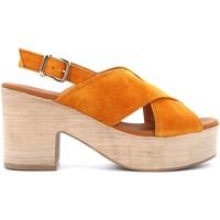Scarpe Donna Sandali Paula Urban scarpe donna sandali con zeppa 15-83 MAIS Pelle