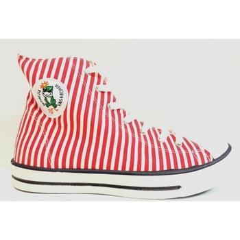 Scarpe Donna Sneakers alte Monella Vagabonda ATRMPN-19852 Rosso