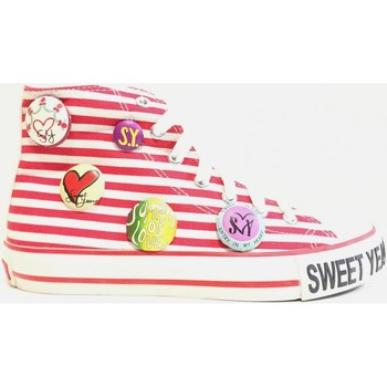Scarpe Donna Sneakers alte Sweet Years ATRMPN-19856 Rosso