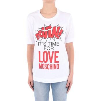 Abbigliamento Donna T-shirt maniche corte Love Moschino W4F15-2E-M3876 Manica Corta Donna Optical white Optical white