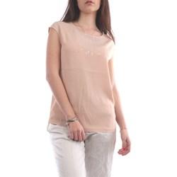 Abbigliamento Donna Top / T-shirt senza maniche Fabiana Filippi TPD270W13-V424 Manica Corta Donna Rosa chiaro Rosa chiaro