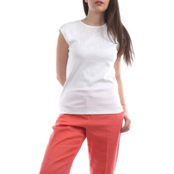 Abbigliamento Donna Top / T-shirt senza maniche Fabiana Filippi JED260W457-A533 Manica Corta Donna Bianco Bianco