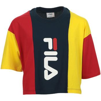 Abbigliamento Bambina T-shirt maniche corte Fila Tamson Blocked Cropped Tee Kids Blu