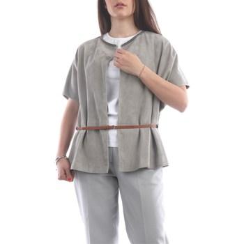 Abbigliamento Donna Top / Blusa Fabiana Filippi PLD270W580-S796 Corte Donna Grigio chiaro Grigio chiaro