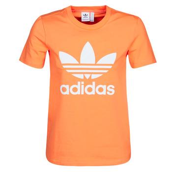 Abbigliamento Donna Felpe adidas Originals TREFOIL TEE Arancio