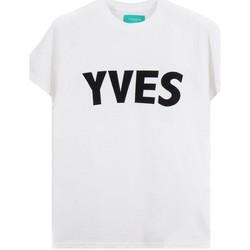 Abbigliamento Uomo T-shirt maniche corte Backsideclub T-Shirt Yves Bianco  BSCTH 107 YVES WHT Bianco