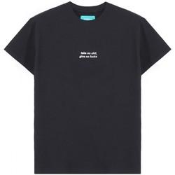 Abbigliamento Uomo T-shirt maniche corte Backsideclub T-Shirt Requirements Nero  BSCTH 131 NO B Nero