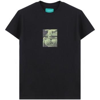 Abbigliamento Uomo T-shirt maniche corte Backsideclub T-Shirt Jack Nero  BSCTH 116 JACK BLK Nero