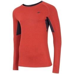 Abbigliamento Uomo T-shirts a maniche lunghe 4F TSMLF002 Arancione