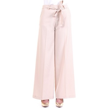 Abbigliamento Donna Pantaloni morbidi / Pantaloni alla zuava Lanacaprina PF2209 Latte