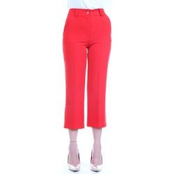 Abbigliamento Donna Pantaloni 5 tasche Lanacaprina PF2235 Rosso