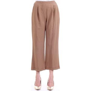 Abbigliamento Donna Pantaloni morbidi / Pantaloni alla zuava Lanacaprina PF2302 Cuoio