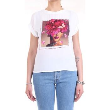 Abbigliamento Donna T-shirt maniche corte Lanacaprina PF2234 Bianco