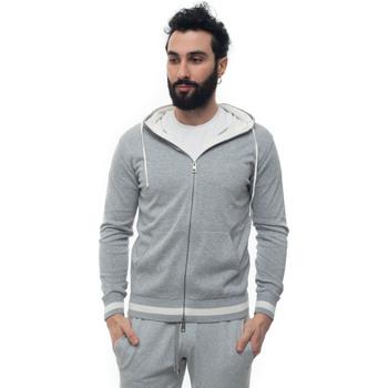 Abbigliamento Felpe Luigi Borrelli Napoli 12MG2510-M901030 grigio/bianco