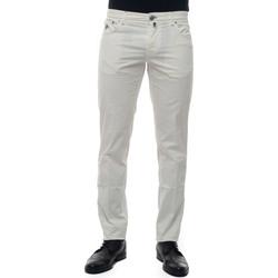 Abbigliamento Pantaloni Luigi Borrelli Napoli CARACCIOLO-TJ50010 bianco