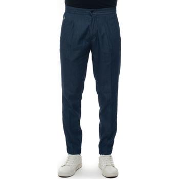 Abbigliamento Pantaloni Luigi Borrelli Napoli FILANGERI-TJ51570 denim scuro