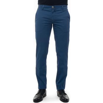 Abbigliamento Pantaloni Luigi Borrelli Napoli PARTENOPE-TJ50172 blu medio