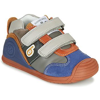 Scarpe Bambino Sneakers basse Biomecanics ZAPATO SPORT VELCRO Grigio / Blu / Arancio