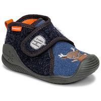 Scarpe Unisex bambino Pantofole Biomecanics ZAPATILLA TWIN Grigio / Blu