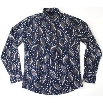 Abbigliamento Uomo Camicie maniche lunghe Gas ATRMPN-20244 Blu