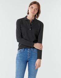 Abbigliamento Donna Polo maniche lunghe Lacoste PF5464 Nero