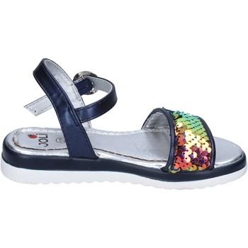 Scarpe Bambina Sandali Joli sandali pelle sintetica paillettes blu