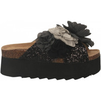 Scarpe Donna Ciabatte Colors of California HIGH SOLE BIO MAXI FLOWER black