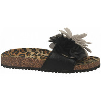 Scarpe Donna Ciabatte Colors of California BIO MAXI FLOWER black