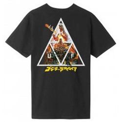 Abbigliamento Uomo T-shirt maniche corte Huf Godzilla VS  - Godzilla Triple Triangle - Black Nero
