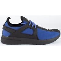 Scarpe Uomo Sneakers basse Versace fondo knitted Blu