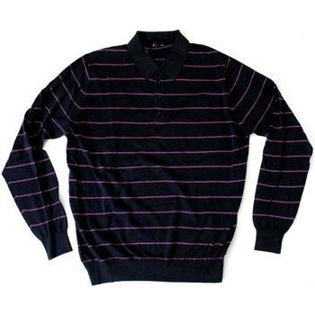 Abbigliamento Uomo Polo maniche lunghe Ferrante ATRMPN-20389 Blu