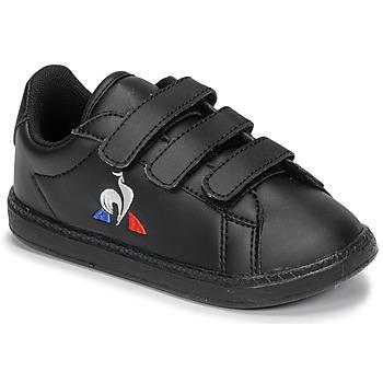 Scarpe Unisex bambino Sneakers basse Le Coq Sportif COURTSET INF Nero