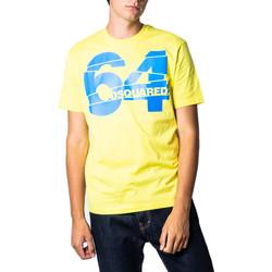 Abbigliamento Uomo T-shirt maniche corte Dsquared S71GD0764 Giallo