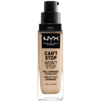 Bellezza Donna Fondotinta & primer Nyx Can't Stop Won't Stop Full Coverage Foundation nude  30 ml